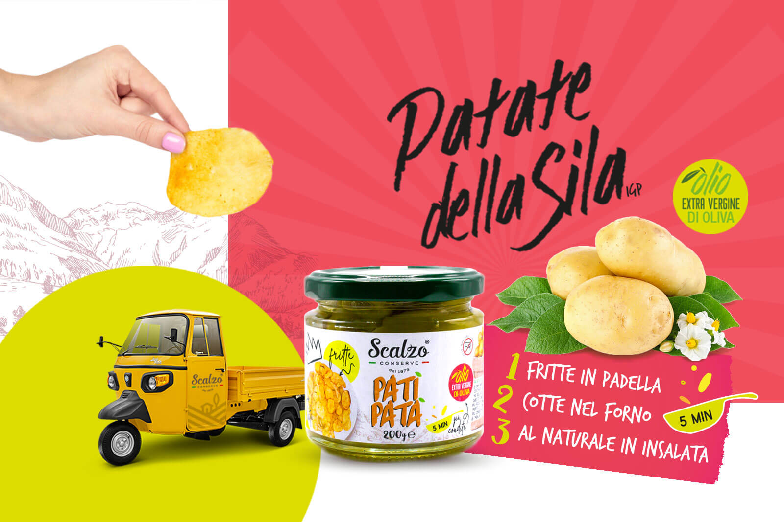 Patì Patà, le chips in vasetto